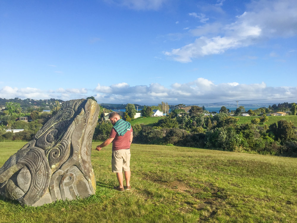 My friend Jonathan soaking in the beauty of Waiheke