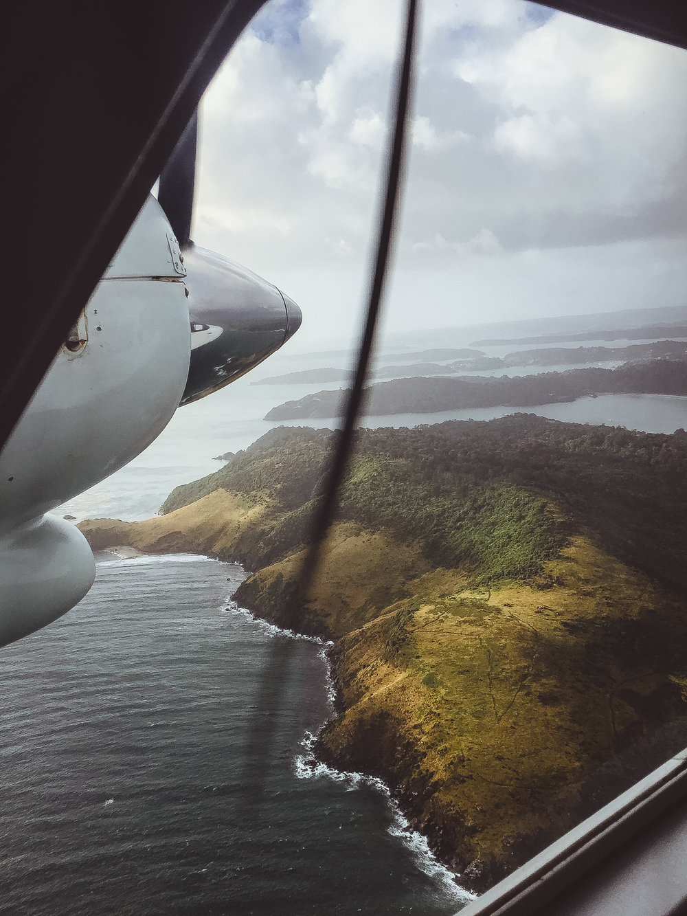 A snap from our flight into Oban