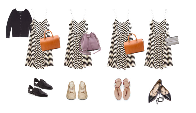 Striped Sundress Styled 4 Ways