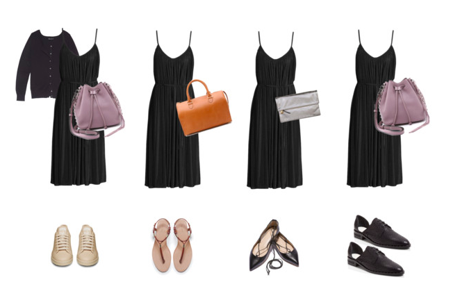 Black Sundress Styled 4 Ways