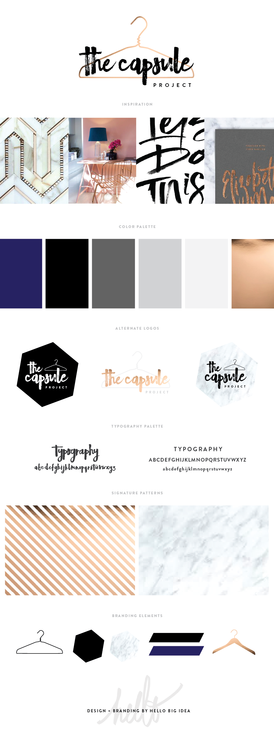 The Capsule Project Style Guide by Hello Big Idea