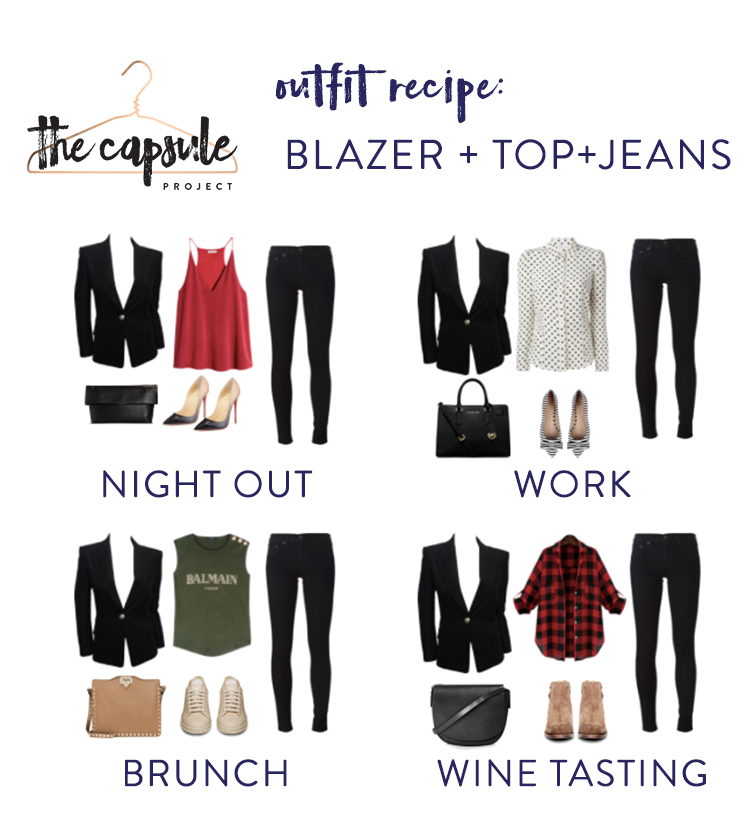 So many ways to mix up a black blazer and jeans!