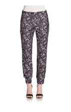 Winter floral pants