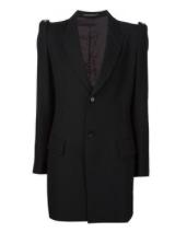 Black long line blazer
