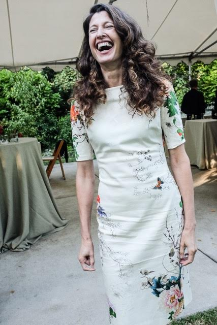 Laura in a Zara dress from her Spring Capsule. Photo by Jack Simon