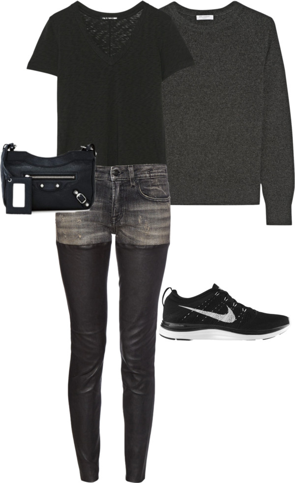Casual dinner or drinks outfit from Laura's Fall/Winter capsule wardrobe