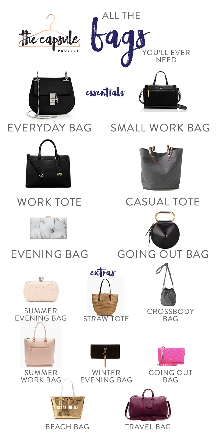 A Complete Bag Wardrobe according to the Lucky Shopping Manual