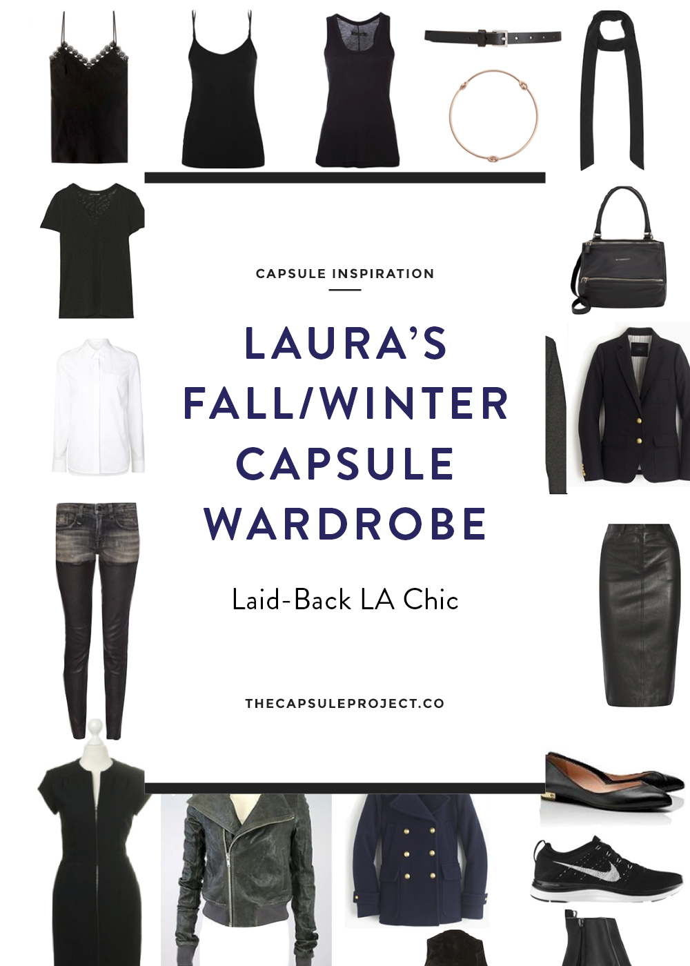 Winter Capsule Wardrobe For 2017 And 2018: Reader Feature: Laura's LA Chic Fall/Winter Capsule