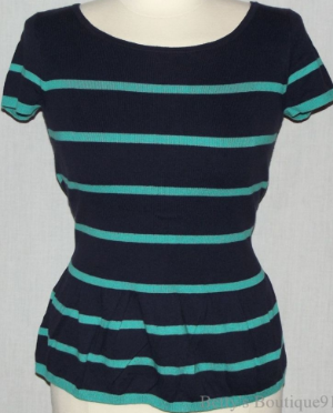 Navy/Teal Loft Top