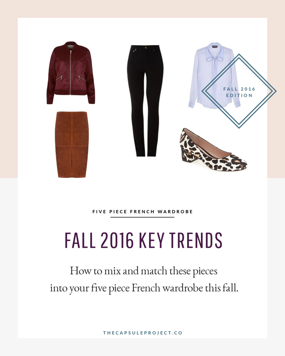 Mix and match these five pieces into your 5 piece French wardrobe this fall.