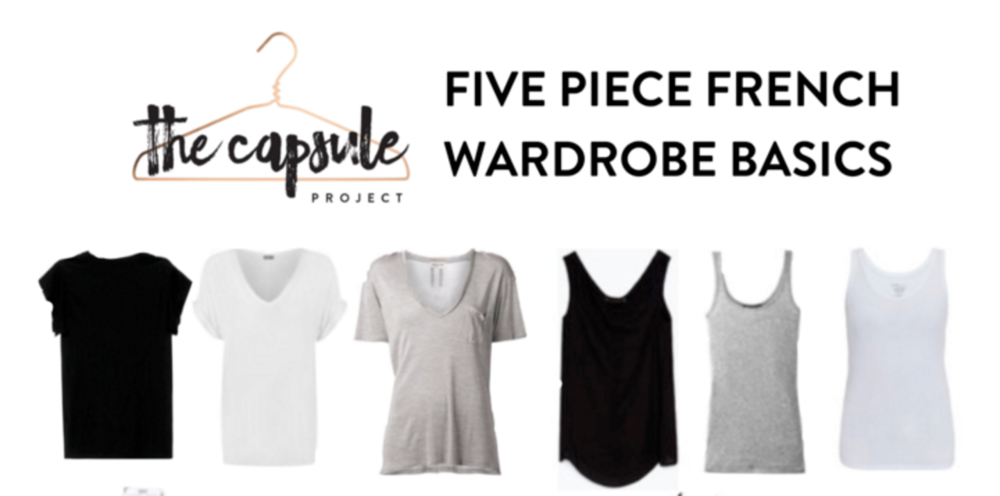 Sign up to receive the Five Piece French Wardrobe Basics Checklist!