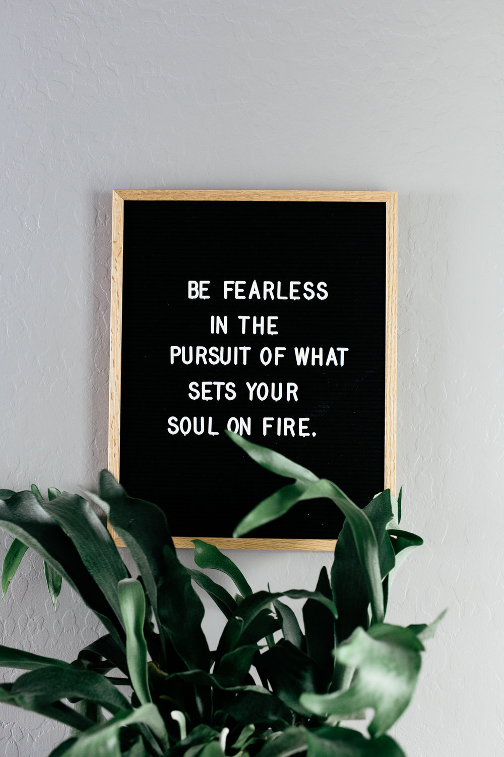 Be fearless. Live vibrantly, you Minimalist.
