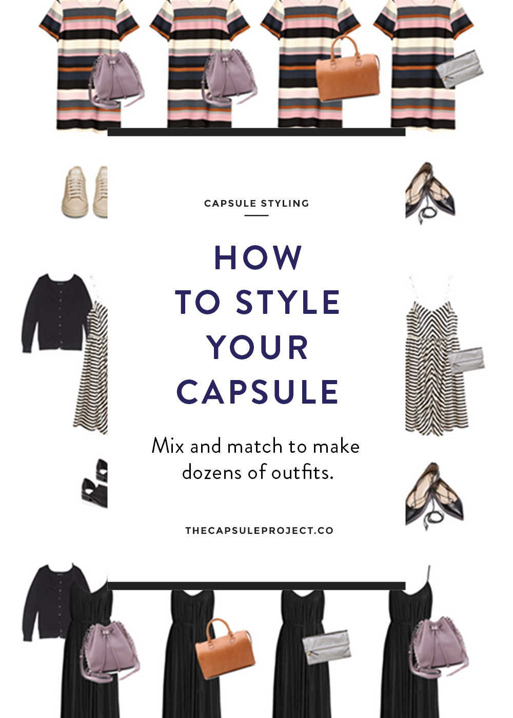 14 Day Summer Capsule Wardrobe - great for trips
