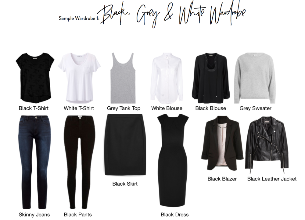 The Black, White & Grey Capsule Wardrobe