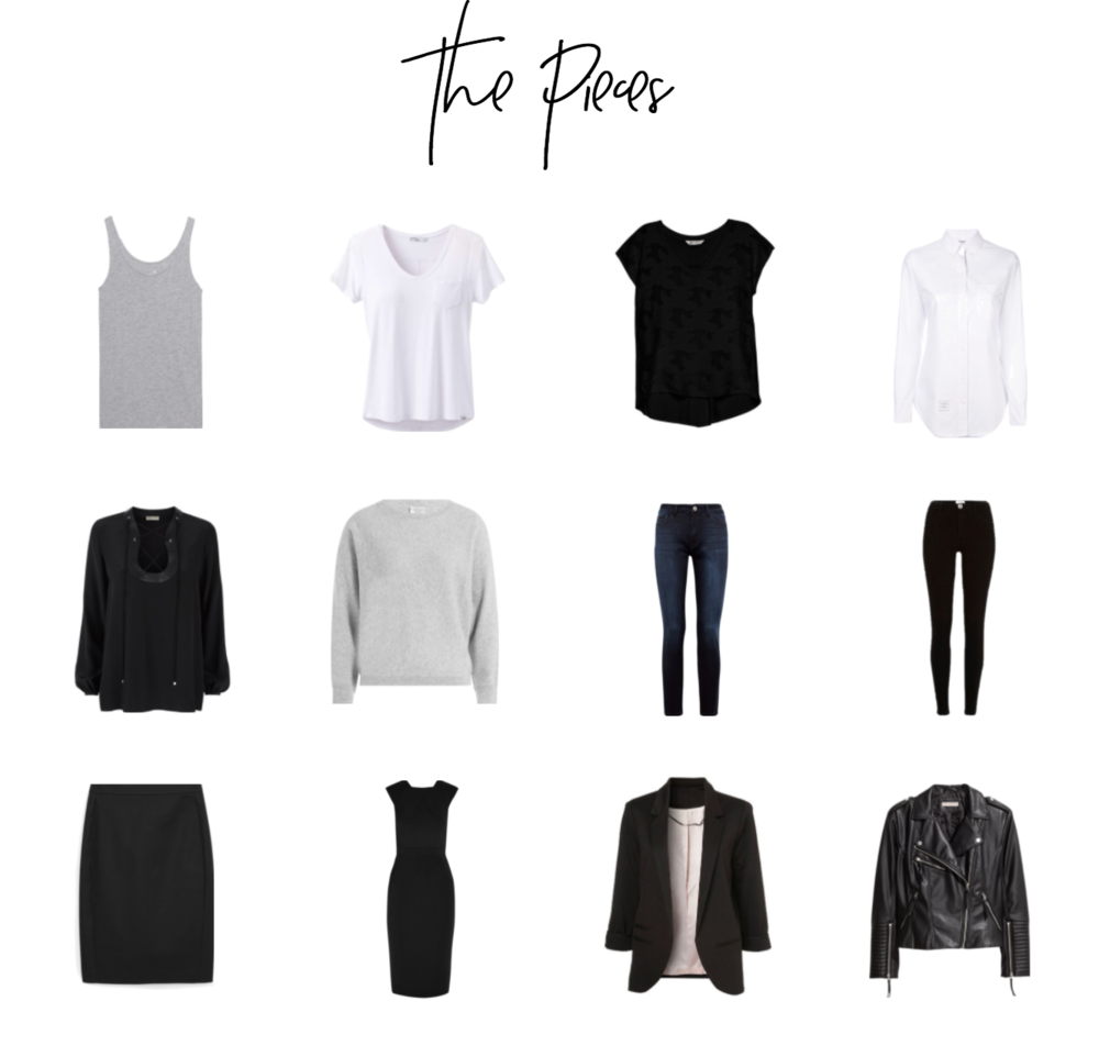 Minimal Wardrobe Basics - The Pieces. Try a 12-Item Wardrobe!