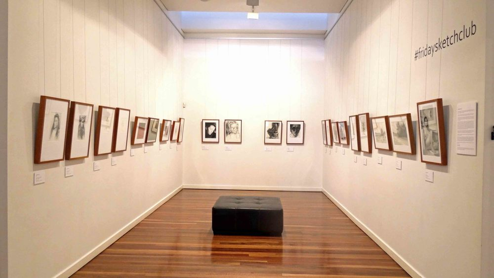 #fridaysketchclub exhibition Muswellbrook Regional Arts Centre August 2014