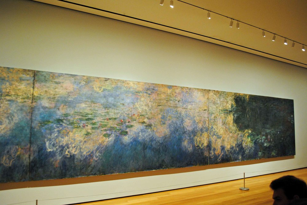Monet's water lilies. Photo taken when I visited MOMA NYC in 2011. What an amazing experience!