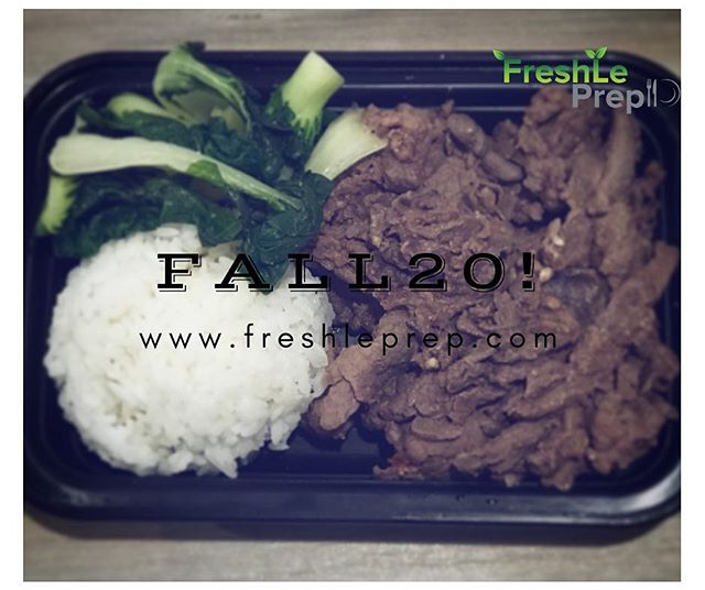 Now available: Bulgogi with baby bok choy‼️ . Don't forget to use FALL20! promotional code - this week only! ——— Deadline to place orders is Thursday night at 11pm, for Sunday Pickup & Delivery 🔹Check out our complete menu at: www.freshleprep.com/meals/ 🔹Contact us or visit our website for more info on PICKUP LOCATIONS at www.freshleprep.com/faqs/ ____ #freshleprep #fitspo #fitmom #fitness #instafit #eattogrow #staykempt #healthyeating #bodybuilding #prepmeals #inspiration #paleo #vegan #mealprep #health #eatclean #fresh #foodie #bulking #lean #eatright #fitmeals #protein #igfitness #fitness #muscle #instafit #motivation #weightloss #dietfood