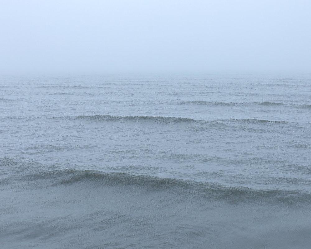 Lake Michigan Under Fog, Door County, Wisconsin, 2016