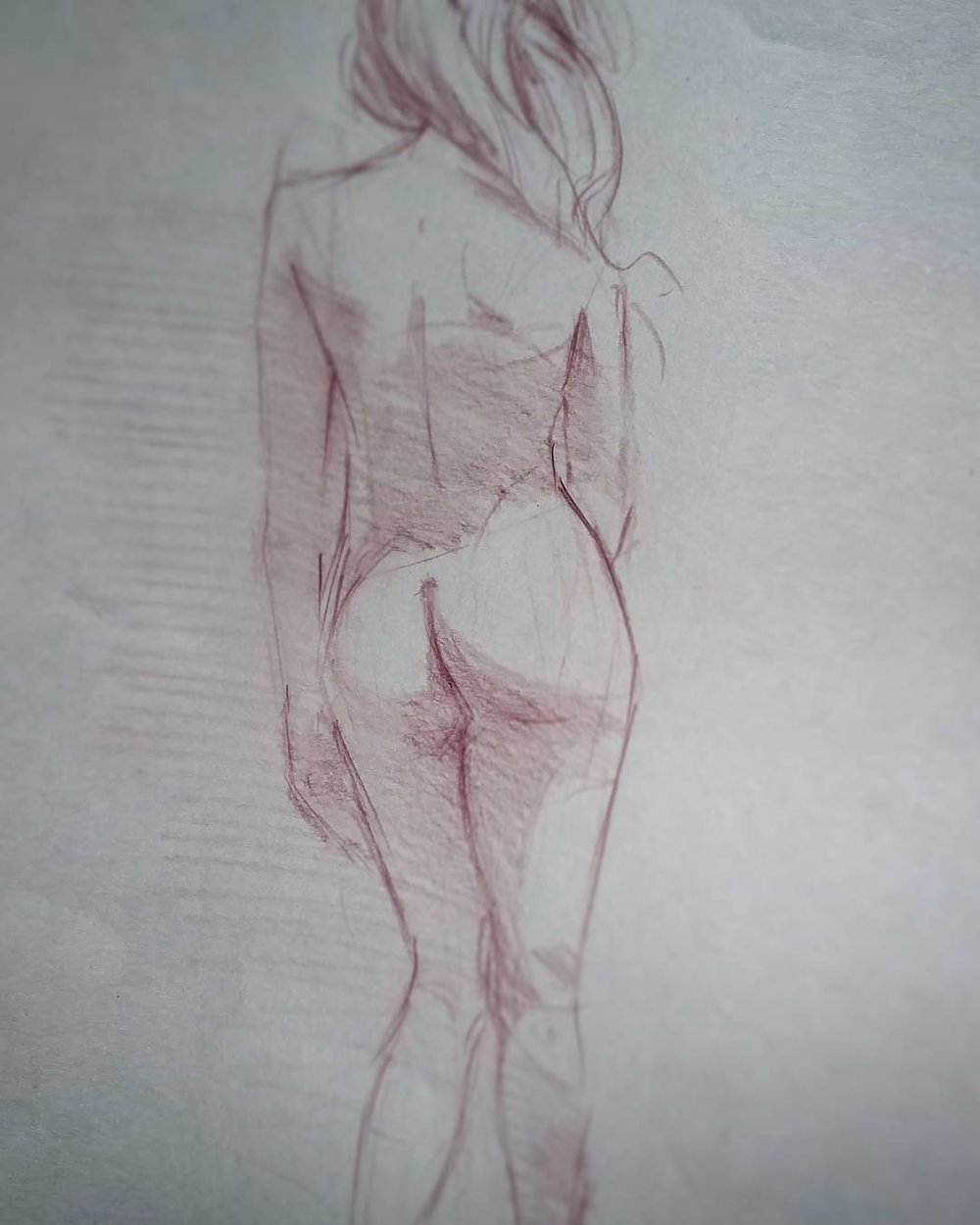 10-minute figure study. Col-erase pencil on paper.
