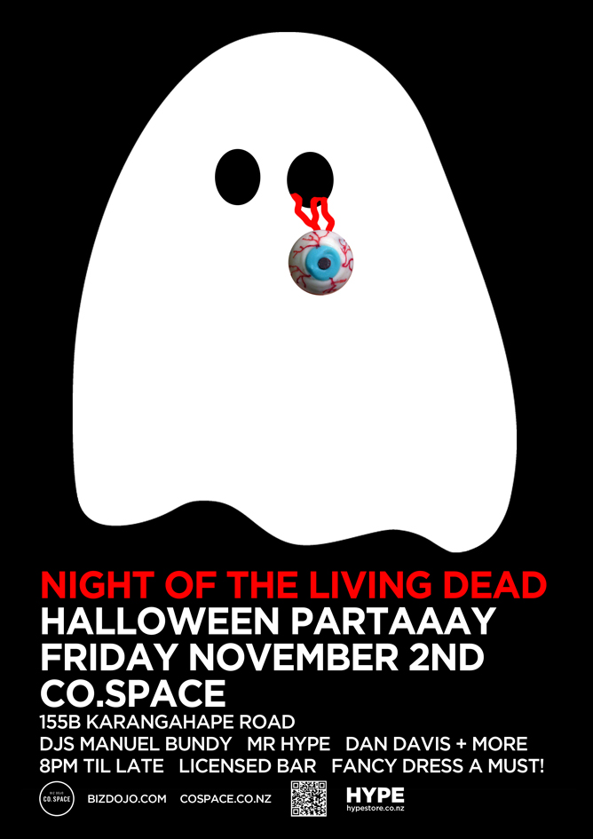 Co.Space Living Dead Halloween Party RSVP here We promise, it's gonna be awesome