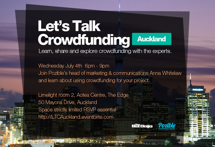 Next Wednesday we're joining a panel hosted by Pozible - a crowdfunding platform hailing from across the Tasman (but we don't hold that against them.. much) - to pass on some crowdfunding do and don'ts.  The dashing Mr Phil Williams will be joined by Sarah Larnach (artist known for Ladyhawke's album covers) and Anna Whitelaw from Pozible. Attendance, drinks, and wisdom will all be free and free-flowing but you need to save a seat! Register now on Eventbrite to save your space
