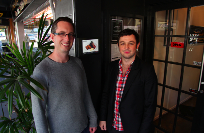 """Another great story of collaboration between two talented Dojoers - Daniel Davis of Dineworksand Tim Ross from Elucidcode, both based in our Auckland Dojo. Read more in this Idealog article: """"Dineworks dishes up interactive iPad menu technology"""""""