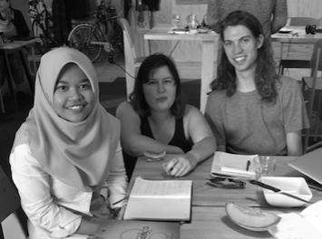 Fatimah Mohamad Tabarani, Hayley Landreth and Jonathan Hobman