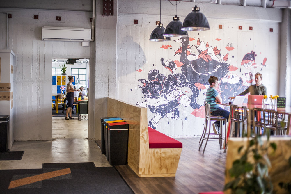 BizDojo Wellington - The Wellington community have a work hard, play hard mentality. Get your best work done during the week and then bring your table tennis skills for a Friday comp! You can also tap into ColliderWgtn for great support, events, learning opportunities.