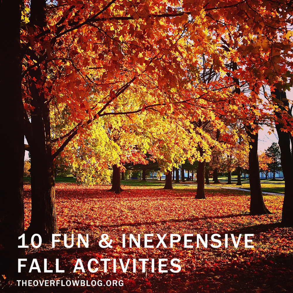 5 Fun and Inexpensive Fall Activities