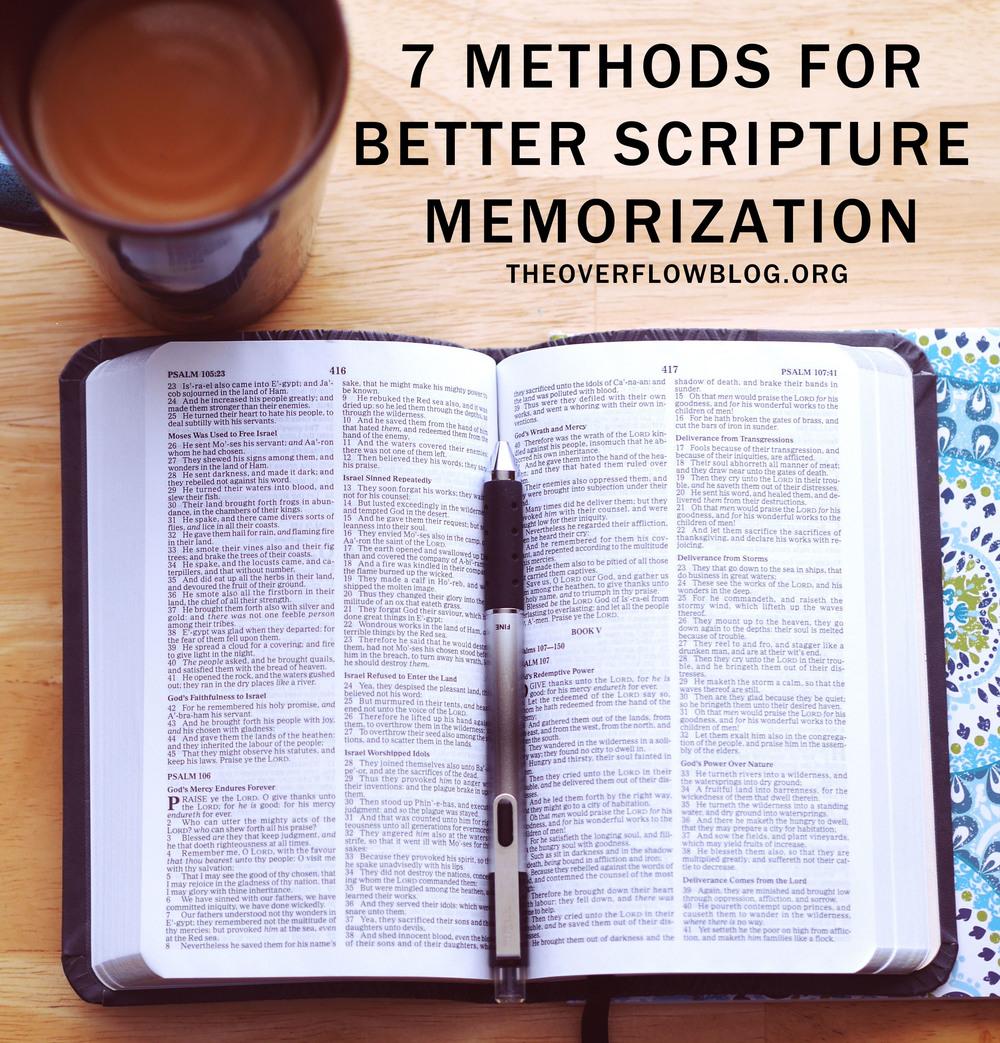 7 Methods for Better Scripture Memorization