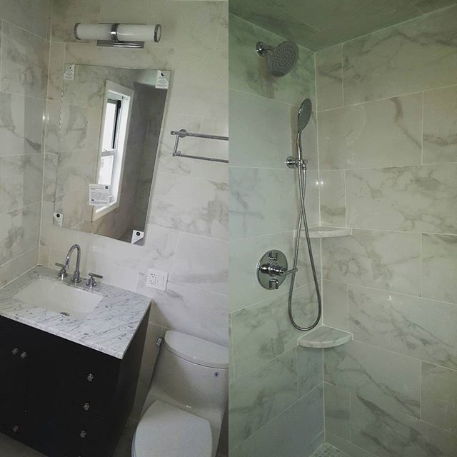 It may look easy on HGTV but what they don't show you are the hurdles you have to overcome and tough decisions that have to be made.  Although we faced our hardships on this one, at the end came the ease.  Renovated bath for clients in Leonia, NJ.  #ummaconstruction #bath #renovation #hgtv #custombath #leonia #umma