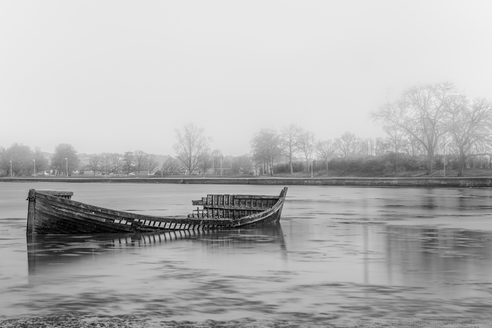Sunken boat in Portsmouth