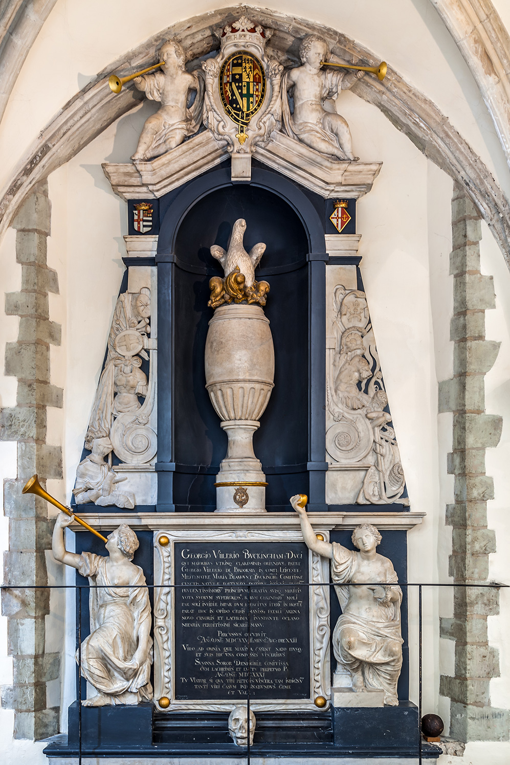 George Villiers monument in Portsmouth Cathedral