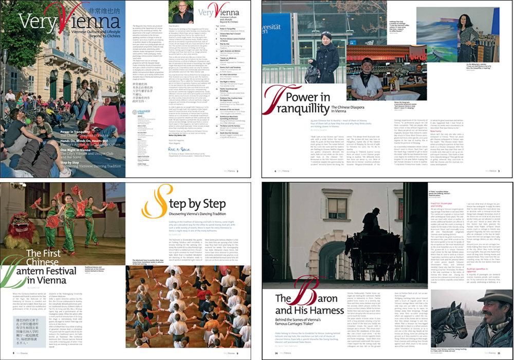 Magazine Very Vienna, Complimentary for the World Exhibition in Shanghai, english/mandarin, University of Vienna, Publizistik und Kommunikationswisssenschaft