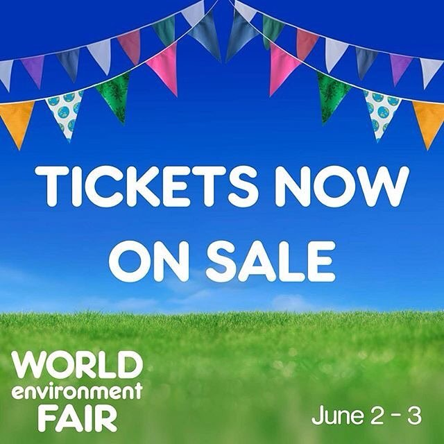 Hooray, tickets are on sale now! Head to the link in our bio to make sure you don't miss out 🌻 📷: @worldenvironmentfair