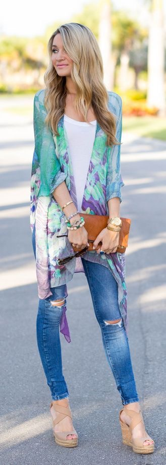 Gorgeous colour combination with jeans