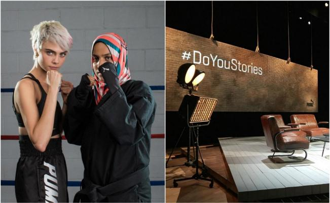 - Designed by OBO London, we provided the tech for a stunning activation for the new PUMA campaign starring Cara Delevingne. The video booth installation took centre stage at London's Central St. Martin's as part of Puma's global #DoYouStories docu-series, encouraging women worldwide to share their empowering stories.