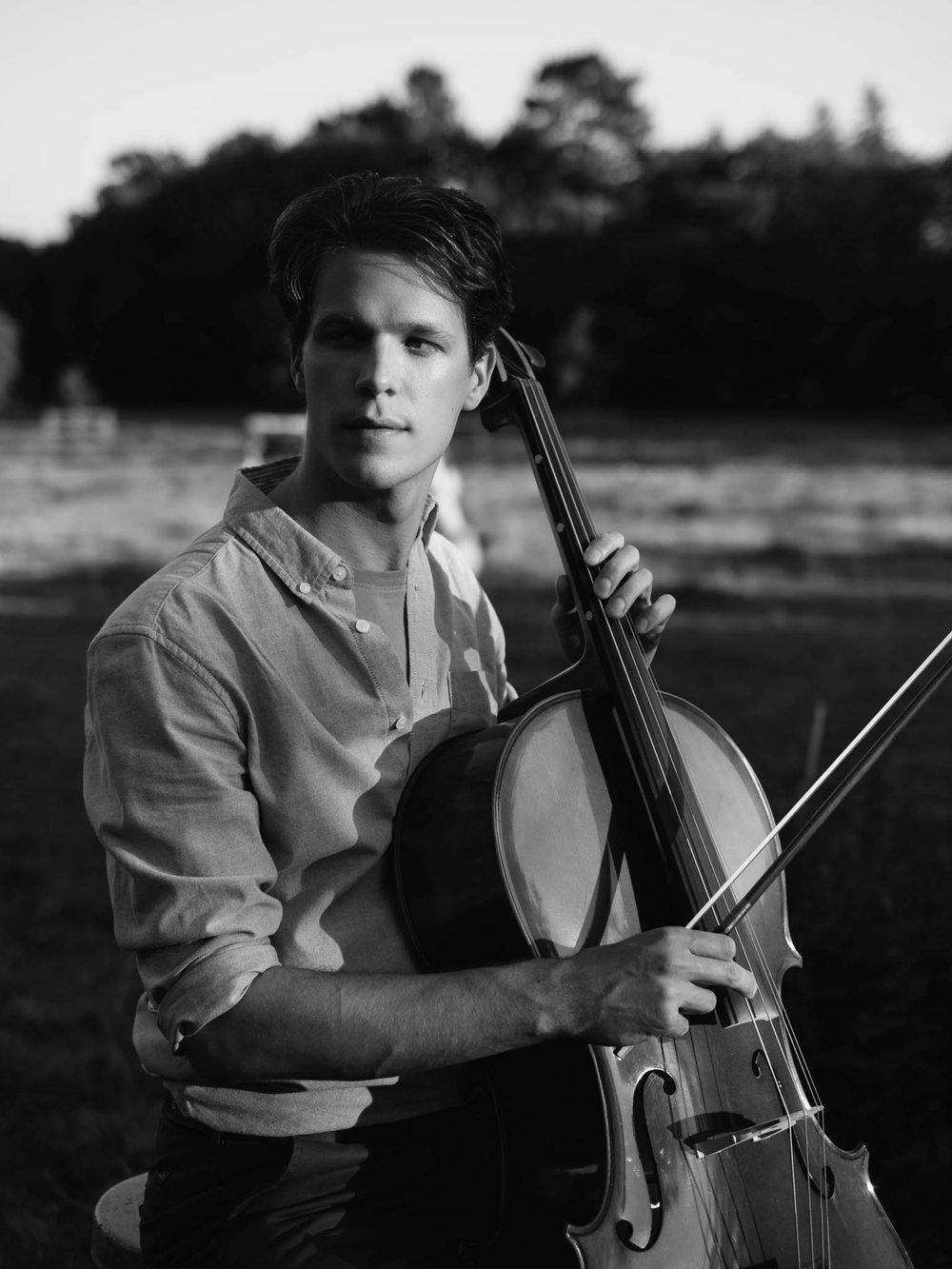 Patrick Lyall, with cello