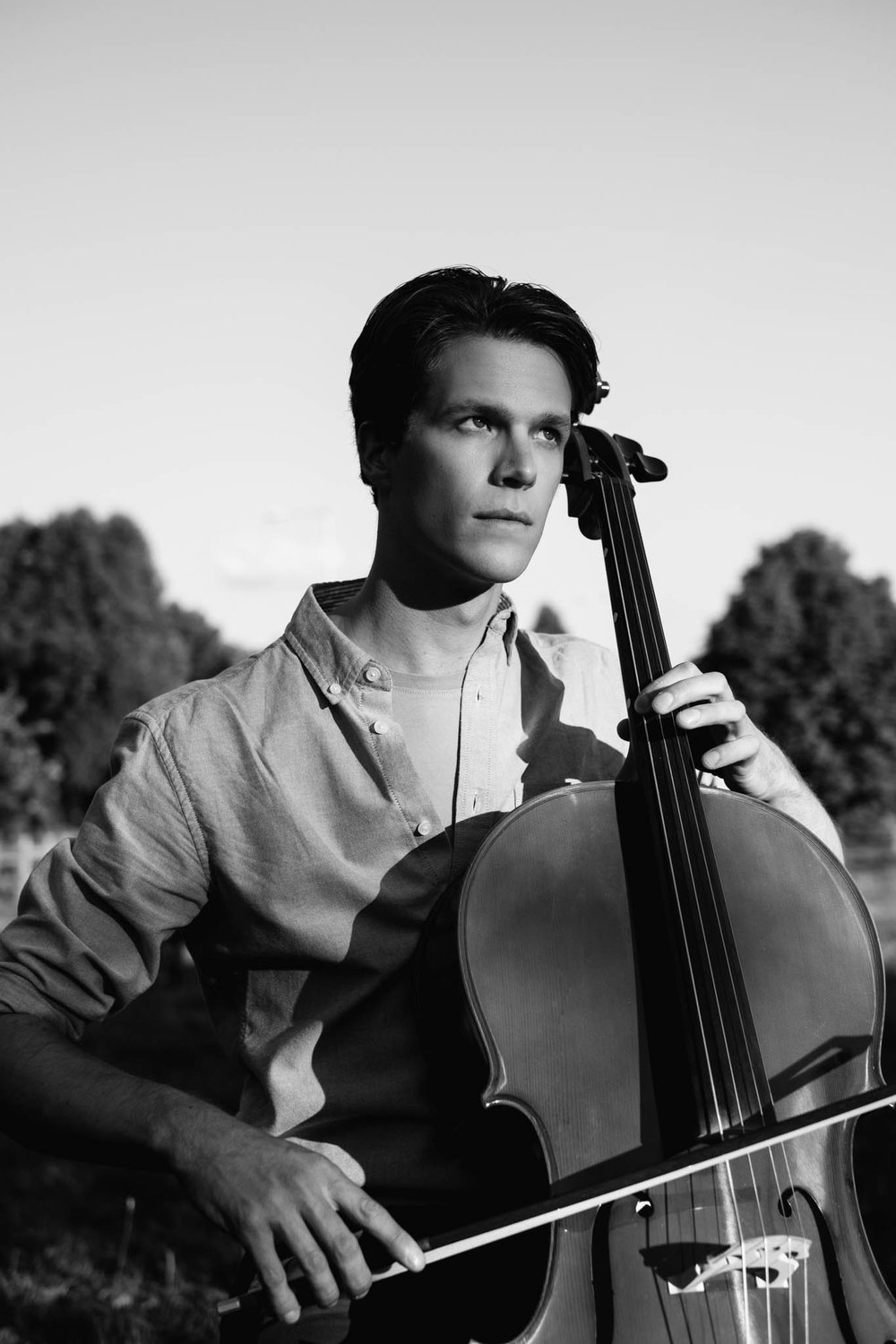 Patrick Lyall, playing cello