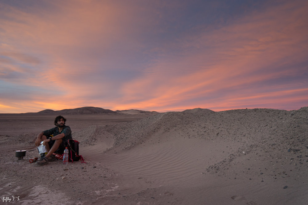 Beautiful sunsets in the Atacama.