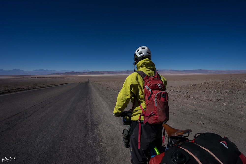 First glimpse of the Salar de Atacama.