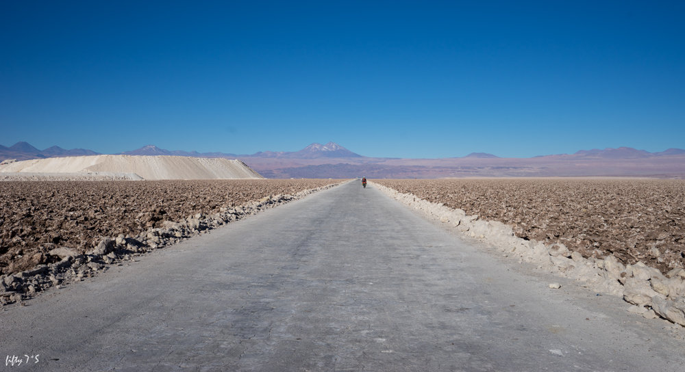 Salar de Atacama. Slight detour around the mine.