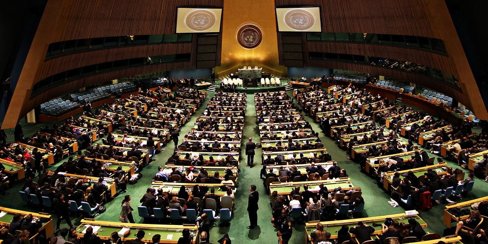 The United Nations General Assembly Hall. Photo: B.D. Soufi.