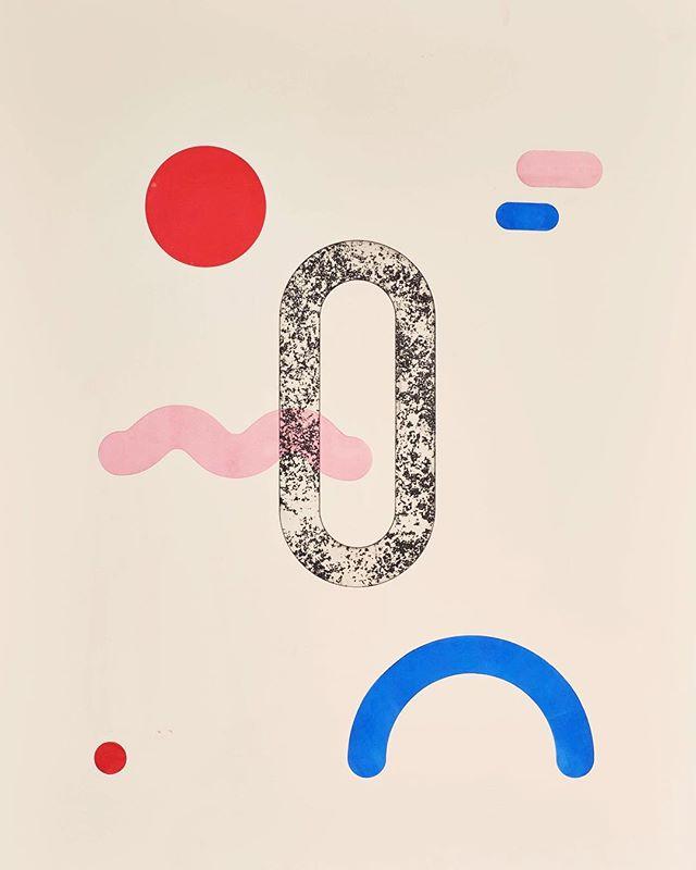⭕️🔵⭕️ . . . . . #face #color #graphicdesign #design #print #printmaking #intaglio #ink #art #fineart #illustration #graphics #shapes #geometric #play #playful #fun #red #pink #blue #artdirection #drawing #artwork #artist #inktober #paper #handmade