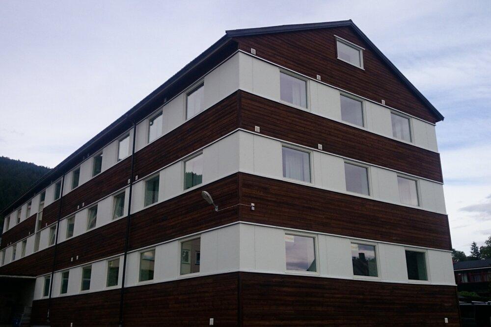 Molde Folkehøgskole - fasaderehabilitering.