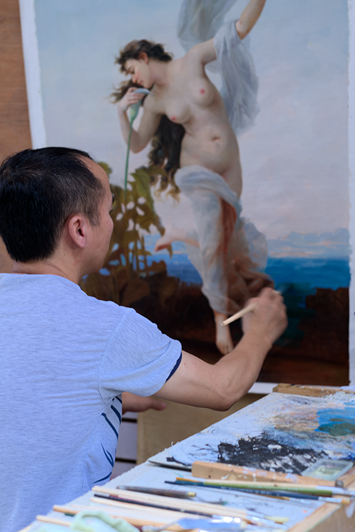 The Masterpiece-An artist busy with a masterpiece reproduction.jpg