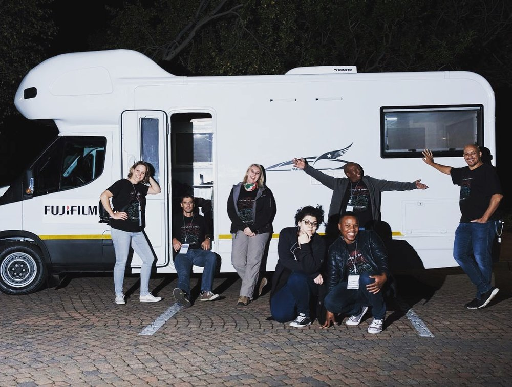 From left to right: Nathalie, Quentin, Liezl, Farrah, Itumeleng, Cedric and Stanley | Photo credit: Earl Abrahams
