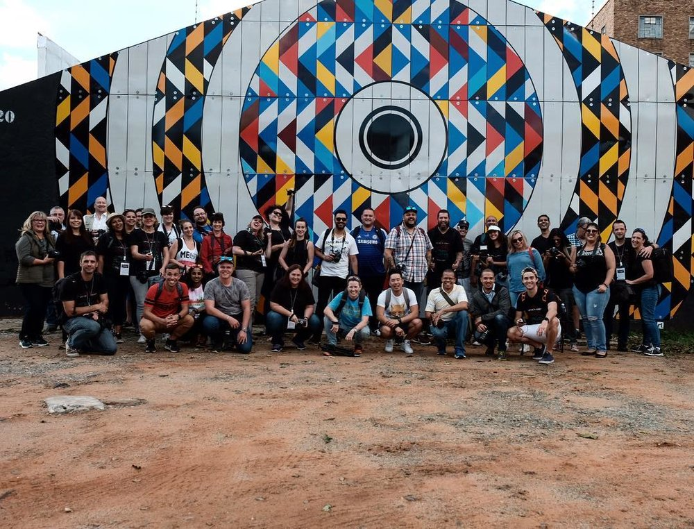 What a turnout! Our group of 40 photo walkers strong! Photo credit: Earl Abrahams