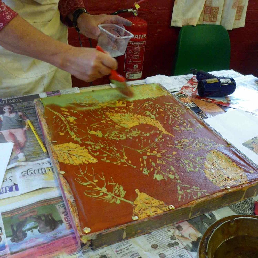 Angela Lenman batik workshop